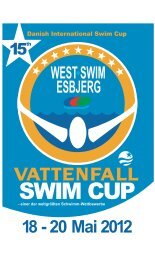 For- og bagside.eps - Vattenfall Swim Cup 2012