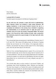 Press release Dornbirn, March 2012 Luminale 2012 in Frankfurt ...
