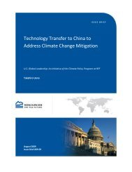 Technology Transfer to China to Address Climate Change Mitigation