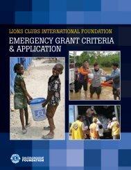 EMERGENCY GRANT CRITERIA & APPLICATION - LCIF