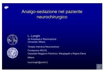 Analgo-sedazione nel paziente neurochirurgico