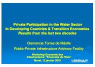 Clemencia Torres--PPP Infrastructure-PPIAF-12 Janvier- 2010 ...