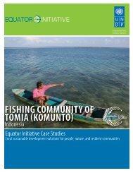 FISHING COMMUNITY OF TOMIA (KOMUNTO) - UNDP