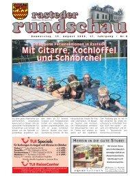 rasteder rundschau, Ausgabe August 2009