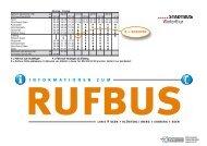 Buslinie 9 - Fahrplan 2009/10 und Rufbus