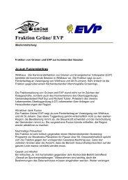 Fraktion Grüne/ EVP - Grüne Kanton St. Gallen