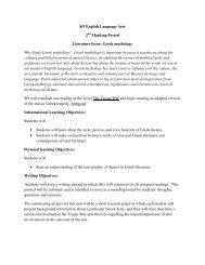 Greek mythology Why Study Greek mythology? Greek mythology is ...