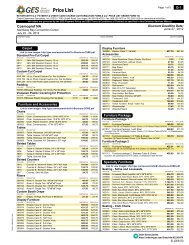 Price List - Cosmoprof North America