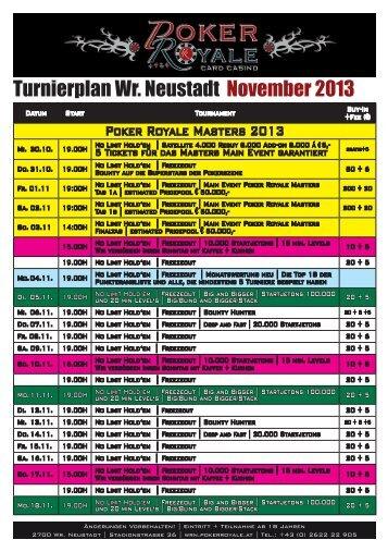 Der Turnierplan zum download als PDF - Pokerroyale: Wr. Neustadt