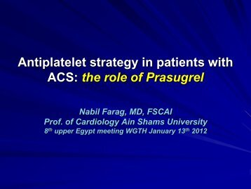 Antiplatelet strategy in patients with ACS: the role of ... - RM Solutions