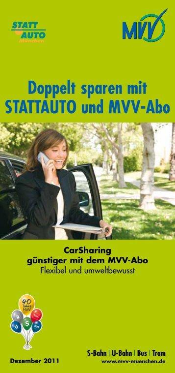 Doppelt sparen mit STATTAUTO und MVV-Abo