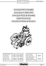 catalogo parti di ricambio catalogue of spare parts ... - Betamotor