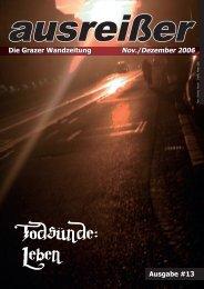 Todsünde: Leben - ausreißer - die grazer wandzeitung - mur.at