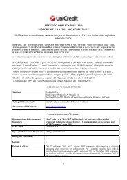 UNICREDIT SPA 2011-2017 SERIE 28/11