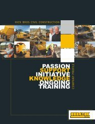 passion support initiative knowledge ongoing training - Hick Bros Civil