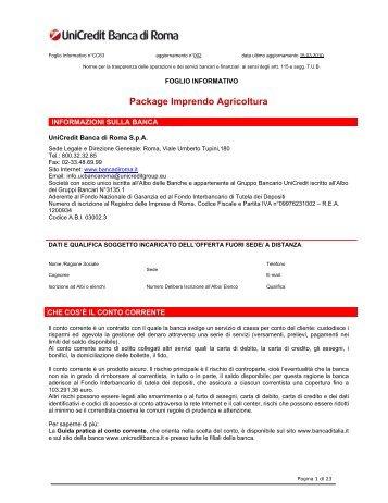 Package Imprendo Agricoltura - Unicredit