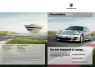 Porschenews 04/08 The new Panamera is coming.