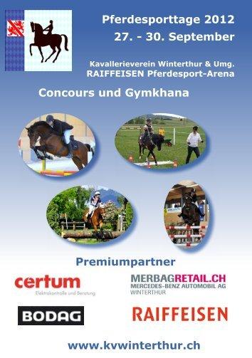 Pferdesporttage 2012 27. - Kavallerieverein Winterthur