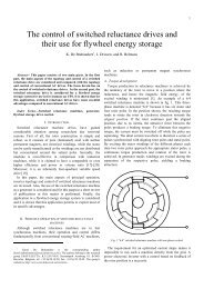 The control of switched reluctance drives and their use for flywheel ...
