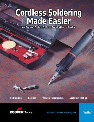 Portasol® Cordless Soldering Tool Brochure ® Cordless Soldering ...
