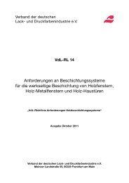 zum pdf-Download deutsch - VdL Verband der Lackindustrie e.V.