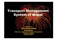 Transport Management System of Nepal - UNCRD