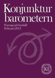 Konjunkturbarometern, hela rapporten - Konjunkturinstitutet
