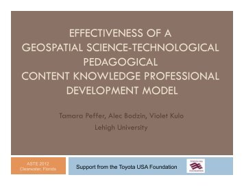 Effectiveness of a geospatial science-technological pedagogical - EI