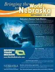 Reverse Trade Mission Flyer - Nebraska Department of Economic ...