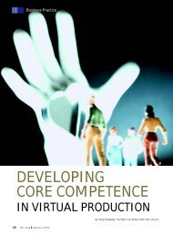Developing Core Competence in Virtual Production