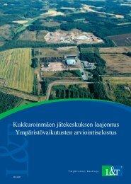 Ympäristövaikutusten arviointiselostus (.pdf 3200kt) - Ramboll