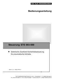 Bedienungsanleitung Steuerung STE 003-500 - TOX ...