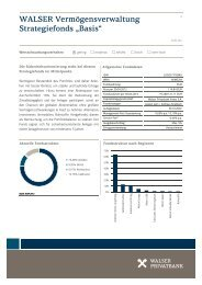 "WALSER Vermögensverwaltung Strategiefonds ""Basis"""