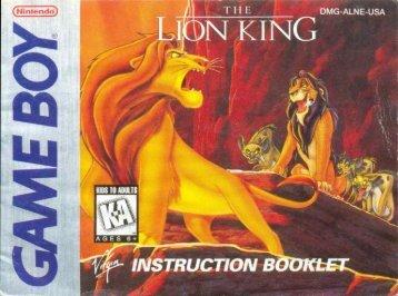 the lion king - Game Boy Land