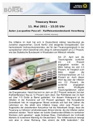 Treasury News 11. Mai 2011 – 15:35 Uhr