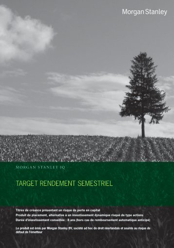TARGET RENDEMENT SEMESTRIEL - Monfinancier.com
