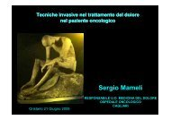 Tecniche invasive nel trattamento del dolore ... - Sardegna Salute