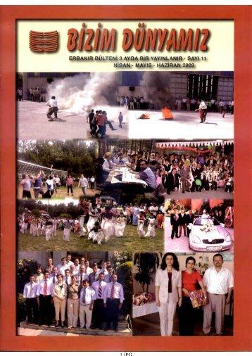 Sayı 11 - Nisan-Haziran 2003
