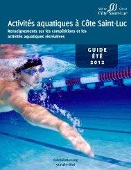 Activités aquatiques à Côte Saint-Luc - City of Côte Saint-Luc