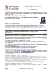 Lettre d'information N°14