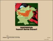 Pashtunistan: Pakistan's Shifting Strategy - Tribal Analysis Center