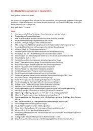 Mandanteninformationen 1. Quartal 2013