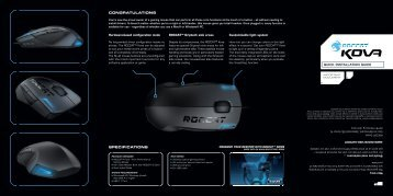 QUICK INSTALLATION GUIDE SPECIFICATIONS - Roccat
