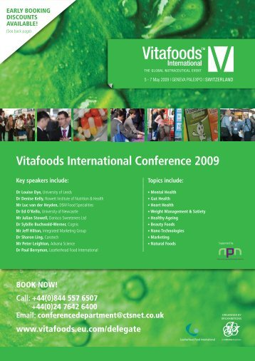 Vitafoods International Conference 2009 - Phyto-Esp