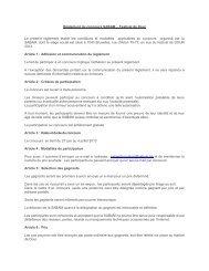 Règlement du concours SABAM – Festival de Dour Le ... - SABAM.be