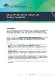 Data Centre as a Service (DCaaS) Multi Use List - About AGIMO