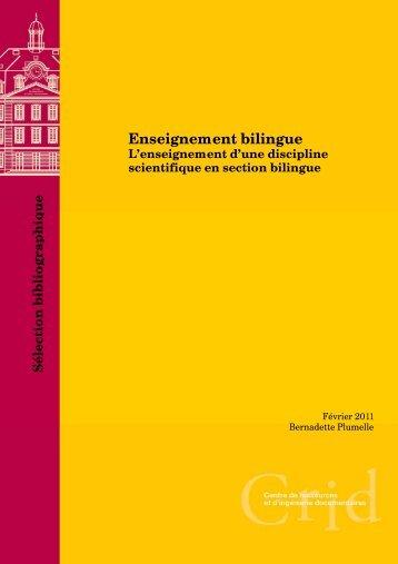 Enseignement bilingue - L'enseignement d'une discipline ... - CIEP