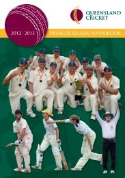 2012 - 2013 PREMIER GR ADE HANDBOOK - Queensland Cricket