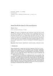 Human Identification Based on Movement Dynamics - Cybernetics ...