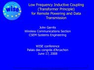 Low Frequency Inductive Coupling for Remote ... - WISE-Project